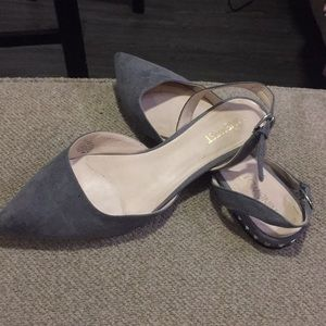 Grey sling back shoes